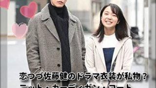 恋つづ佐藤健のドラマ衣装が私物?二ット・カーディガン・コート・サングラスのブランドはどこ?