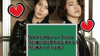 野ブタをプロデュース2020特別編に堀北真希は主演する?キャストは誰?