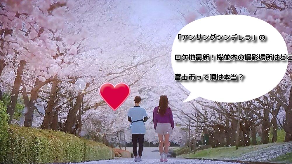 「アンサングシンデレラ」のロケ地最新!桜並木の撮影場所はどこ?富士市って噂は本当?